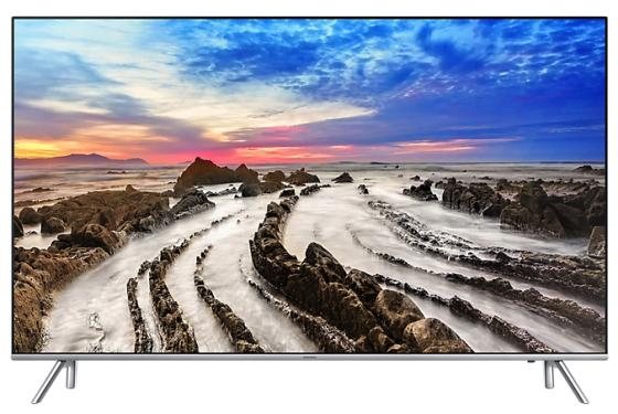 Телевизор 65 Samsung UE65MU7000UX серебристый 3840x2160 100 Гц Wi-Fi Smart TV RJ-45 Bluetooth телевизор led 65 lg oled65e6v серый 3840x2160 120 гц wi fi smart tv rj 45 bluetooth widi