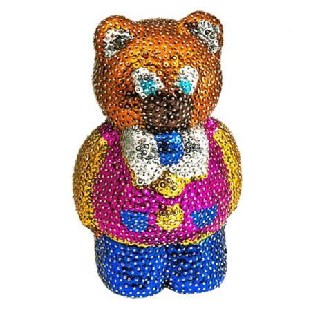 """Мозайка из пайеток Волшебная мастерская """"Мишка"""" 3D-03 наборы для творчества волшебная мастерская мозаика из пайеток лисичка"""
