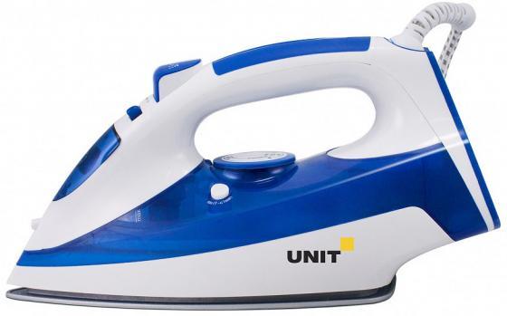 Утюг Unit USI-286 2600Вт синий белый