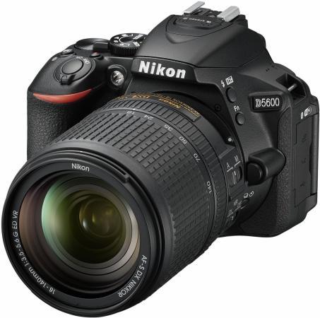лучшая цена Зеркальная фотокамера Nikon D5600 KIT 18-140mm 24.1Mp черный VBA500K002