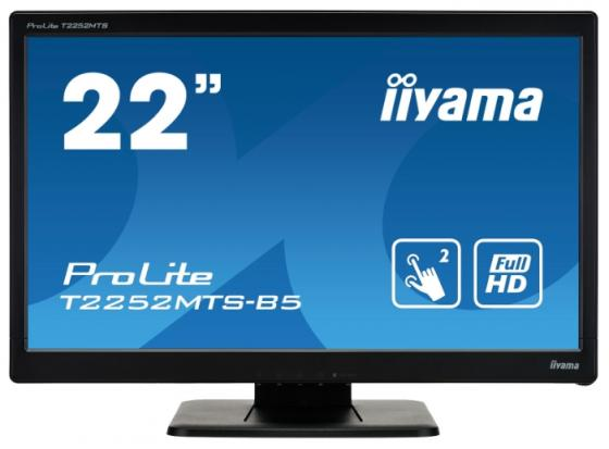 Монитор 21.5 iiYama ProLite T2252MTS-5 черный TN 1920x1080 220 cd/m^2 2 ms DVI HDMI VGA USB купить
