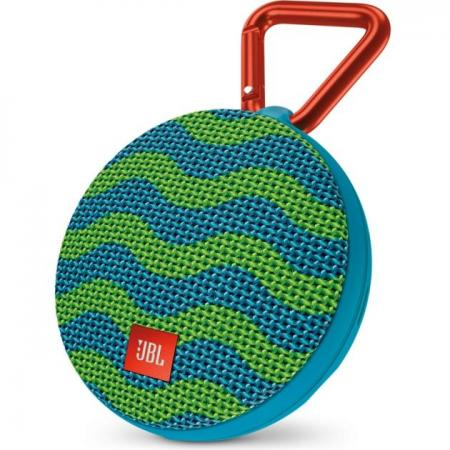 Акустическая система JBL Clip 2 сине-зеленый JBLCLIP2SPLASH jbl jblclipplusgray clip plus gray