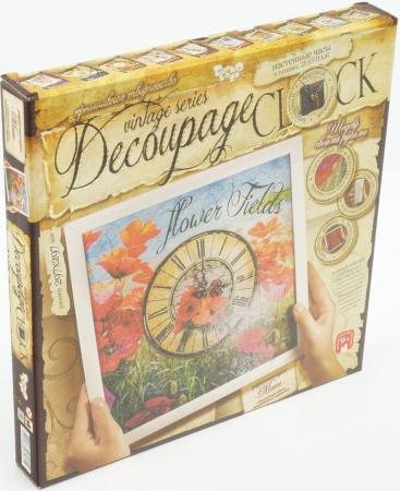 Набор для творчества ДАНКО-ТОЙС Decoupage clock с рамкой Часы от 9 лет DKC-01-04 набор для творчества данко тойс my color clutch пони от 5 лет