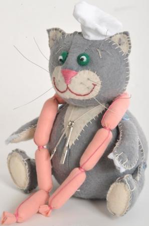 Набор для создания игрушки Перловка Кот обжора ПФЗД-1004 набор для создания игрушки перловка счастливый ёжик от 6 лет пфзд 1005