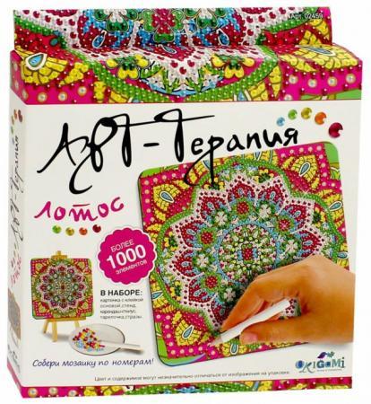 Мозайка 1000 элементов ОРИГАМИ «Арт-терапия» Лотос пазл оригами 360эл 47 5 47 5см серия арт терапия этника волк
