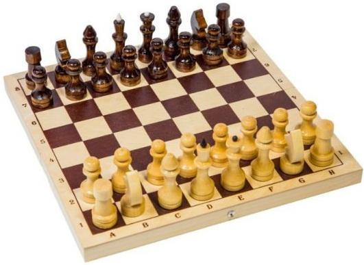 Настольная игра шахматы Шахматы обиходные лакированные дерев Р-1 шахматы 15 1977