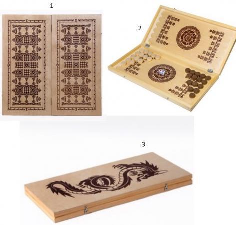 Настольная игра нарды Шахматы Нарды малые деревянные в ассортименте В-1 нарды хохлома
