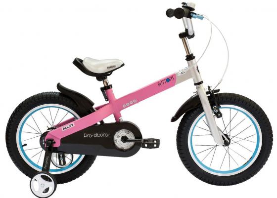 """Велосипед двухколёсный Royal baby Alloy Buttons Diy 14"""" розовый"""