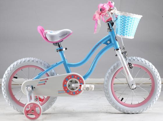 """Велосипед двухколёсный Royal baby Stargirl (6954351400443) 16"""" голубой-розовый"""