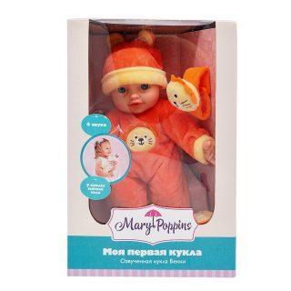 Пупс Mary Poppins Моя первая кукла - Бекки с игрушкой 30 см со звуком mary poppins mary poppins кукла мягконабивная моя первая кукла бекки принцесса