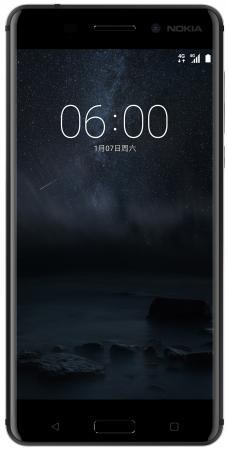 Смартфон NOKIA 6 Dual sim черный 5.5 32 Гб NFC LTE Wi-Fi GPS 11PLEB01A15 смартфон nokia 3 dual sim черный 5 16 гб nfc lte wi fi gps 3g ta 1032 11ne1b01a09