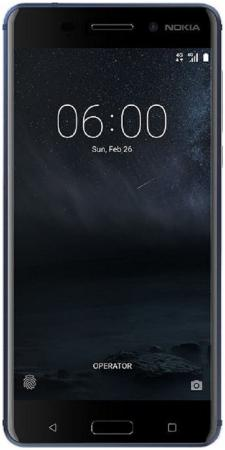 Смартфон NOKIA 6 Dual sim индиго 5.5 32 Гб NFC LTE Wi-Fi GPS 4G 11PLEL01A11 смартфон nokia 6 dual sim серебристый