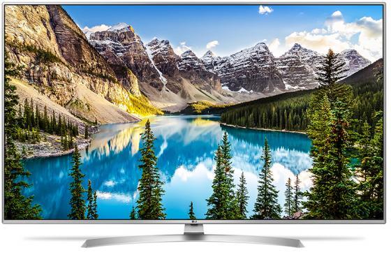 Телевизор 65 LG 65UJ675V серебристый 3840x2160 100 Гц Wi-Fi Smart TV RJ-45 телевизор led 65 samsung qe65q7camux серебристый 3840x2160 wi fi smart tv rs 232c