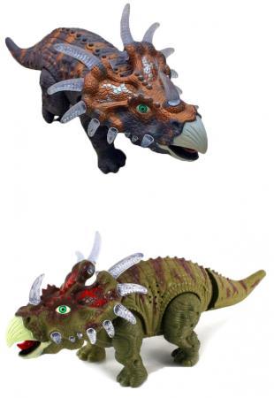 Интерактивная игрушка Shantou Gepai Динозавр - Трицератопс от 3 лет разноцветный 635658 интерактивная игрушка shantou gepai