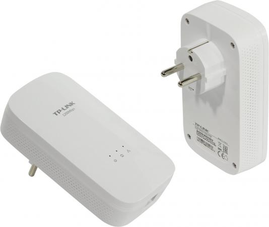 Комплект адаптеров Powerline TP-LINK TL-PA8010KIT 10/100/1000Mbps powerline адаптер tp link tl pa4010kit tl pa4010kit