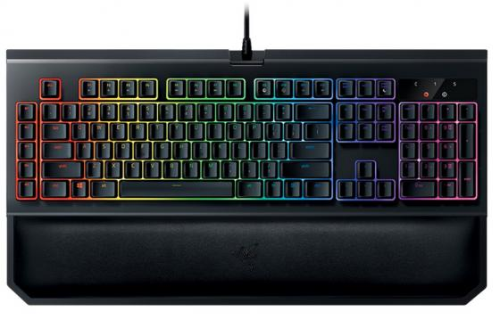 Клавиатура проводная Razer BlackWidow Chroma V2 Green Switch USB черный RZ03-02030700-R3R1 razer naga chroma black usb