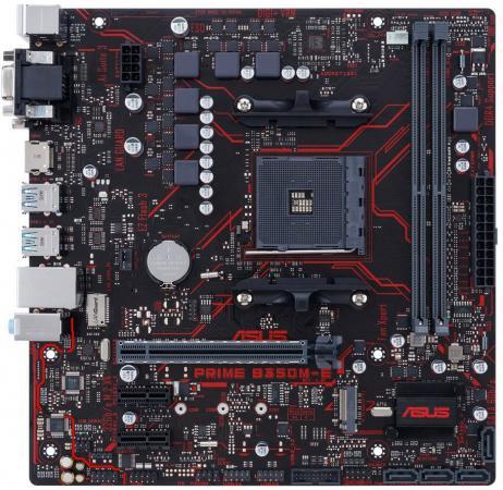 Материнская плата ASUS PRIME B350M-E Socket AM4 AMD B350 2xDDR4 1xPCI-E 16x 2xPCI-E 1x 4xSATAIII mATX Retail мат плата для пк asrock ab350m socket am4 amd b350 2xddr4 1xpci e 16x 1xpci e 1x 4xsataiii matx retail
