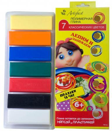 Полимерная глина Artifact Лепим и запекаем, 7 классических цветов 7507-08 7 цветов полимерная глина artifact 7507 38 7 цветов
