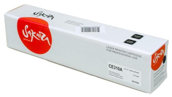 Картридж Sakura CE310A для HP LaserJet Pro CP1025/CP1025N черный 1200стр картридж sakura ce311a для hp laserjet pro cp1025 cp1025nw голубой 1000стр