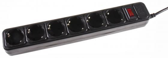 Сетевой фильтр 3Cott 3C-SP1006B-1.8 6 розеток 1.8 м черный запонки arcadio rossi 2 b 1006 11 e