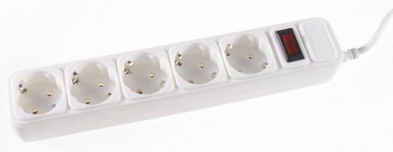 Сетевой фильтр 3Cott 3C-SP1005W-3.0 5 розеток 3 м белый сетевой фильтр 3cott 3c sp1006b 5 0 6 розеток 5 м