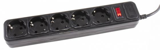 Сетевой фильтр 3Cott 3C-SP1005B-1.8 5 розеток 1.8 м черный коробка 0480799 сетевой фильтр 3cott 3c sp1005b 1 8 черный 5 розеток 1 8 м