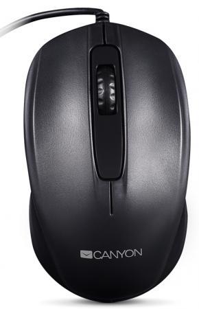 Мышь проводная Canyon CNE-CMS01B чёрный USB canyon cne chsu1w usb white
