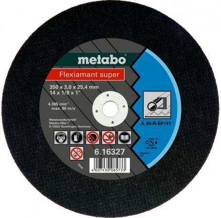 Отрезной круг Metabo Flexiamant S 350x3x25.4 прямой A30R 616327000 отрезной круг metabo flexiamant s 350x3x25 4 прямой a24m 616338000
