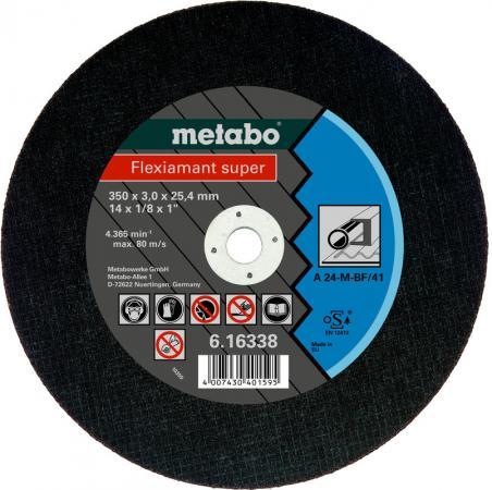 Отрезной круг Metabo Flexiamant S 350x3x25.4 прямой A24M 616338000 отрезной круг metabo flexiamant s 350x3x25 4 прямой a24m 616338000