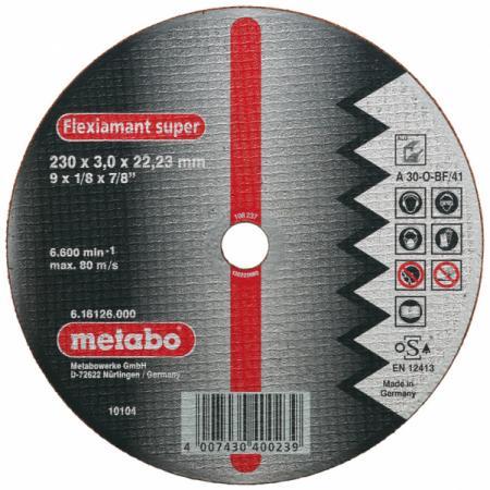 Отрезной круг Metabo Novoflex 150x3 прямой А30 616448000