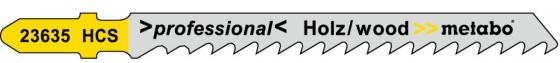 цены Лобзиковая пилка Metabo T101D 75х4мм HCS 5шт 623635000