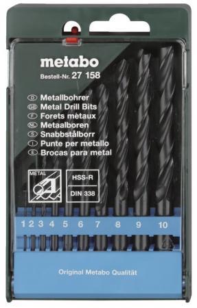 Набор сверел Metabo 10шт 627158000 набор сверел metabo 13шт 627161000