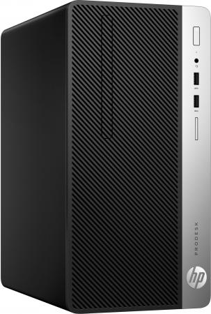 Системный блок HP ProDesk 400 G4 G4560 3.5GHz 4Gb 500Gb HD510 DVD-RW Win10Pro клавиатура мышь серебристо-черный 1EY20EA ноутбук hp 15 bs027ur 1zj93ea core i3 6006u 4gb 500gb 15 6 dvd dos black