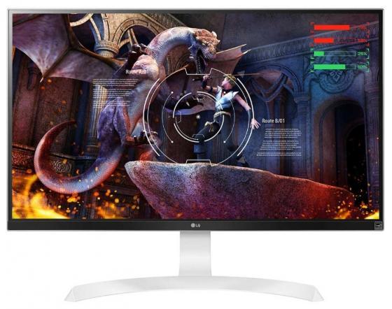 Монитор 27 LG 27UD69P-W белый IPS 3840x2160 300 cd/m^2 5 ms DisplayPort HDMI монитор lg 31 5 32mp58hq p 32mp58hq p aruz