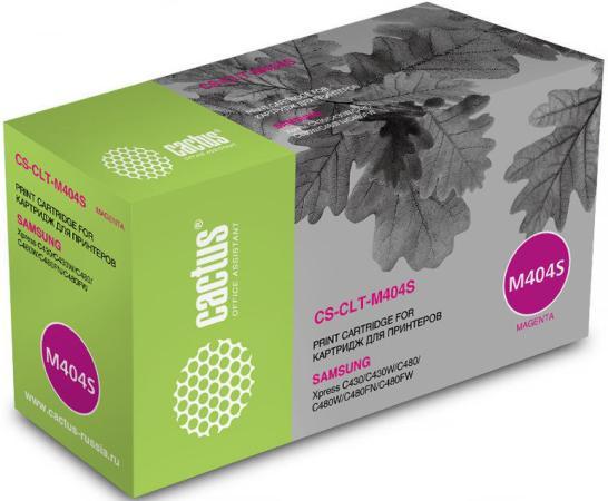 Картридж Cactus CS-CLT-M404S для Samsung SL-C430/C430W/C480/C480W/C480FW пурпурный 1000стр цены онлайн