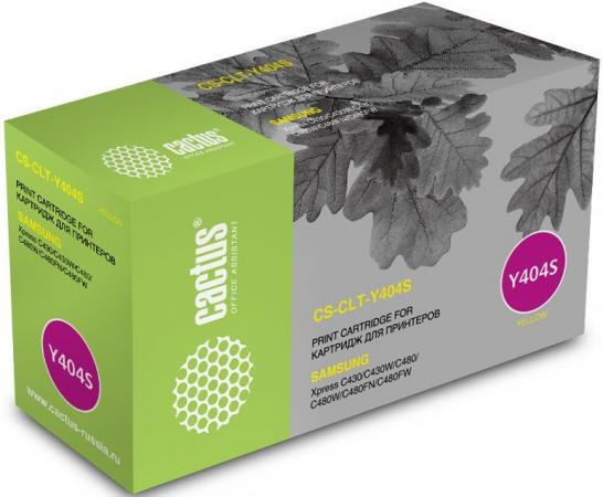 Картридж Cactus CS-CLT-Y404S для Samsung SL-C430/C430W/C480/C480W/C480FW желтый 1000стр