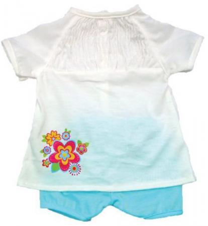 Одежда для куклы Mary Poppins 38-43см, белая кофточка и голубые штанишки 452077 куклы и одежда для кукол precious кукла близко к сердцу 30 см