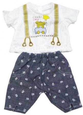 Одежда для кукол Mary Poppins Mary Poppins белая кофточка и серые штанишки с узором 452060 футболочка и штанишки для куклы mary poppins