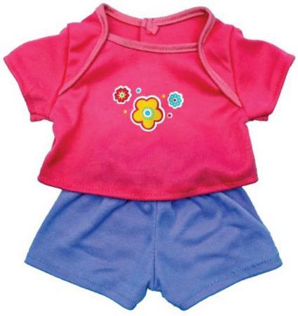 Одежда для кукол Mary Poppins Футболка и шортики 38-42см, ассортимент huf футболка huf hail mary pocket tee royal