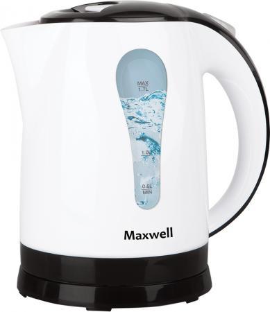 Чайник Maxwell MW-1079 W 2200 Вт белый 1.7 л пластик чайник maxwell mw 1083 tr 2200 вт чёрный 1 7 л стекло