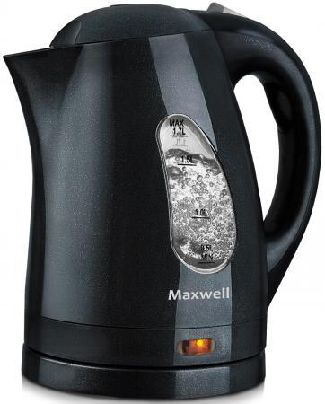 Чайник Maxwell MW-1014 GY 2200 Вт чёрный 1.7 л пластик