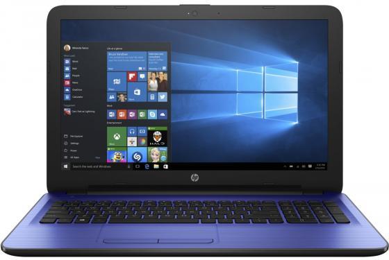 Ноутбук HP 15-au125ur 15.6 1366x768 Intel Pentium-N3710 500Gb 4Gb Intel HD Graphics 405 синий Windows 10 Home P3S93EA чернила aurora refills черные в бутылочке 45мл au 125 n