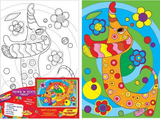 Набор для росписи по холсту Креатто Такса от 3 лет 30170 подставка для колец такса