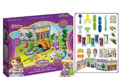 Набор для лепки РОСМЭН Королевский дворец 7 цветов набор для лепки росмэн фабрика мороженного смурфики от 3 лет 19371