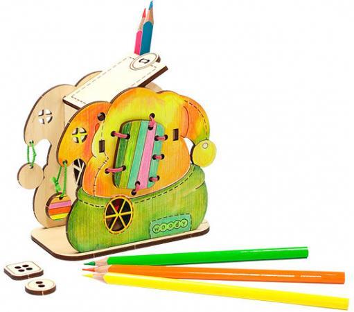 Деревянный конструктор WOODY Озорной колпак 13 элементов О0877 мягкая игрушка интерактивная woody o time лошадка непоседа