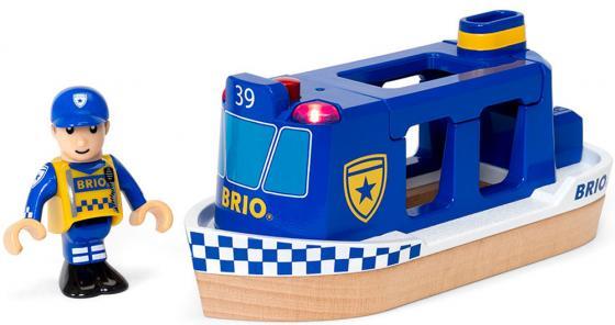 Игровой набор Brio Полицейский катер,2 эл.,свет,звук,19х7х10см,кор.