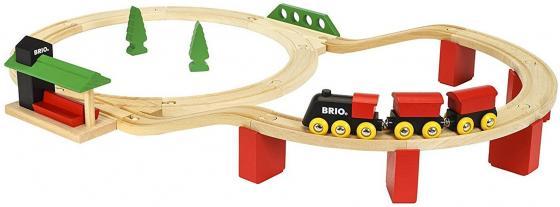Железная дорога Brio Классика Делюкс с 2-х лет железная дорога brio классика делюкс 25 эл 45х8х27см кор