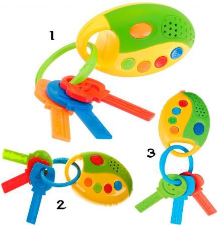 Интерактивная игрушка 1Toy Автоключики от 1 года свет, звук, асссортимент Т59302 автомобильный брелок fs