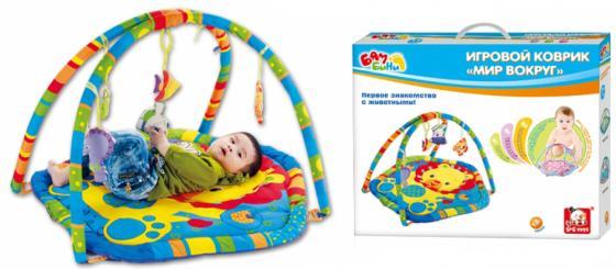 Развивающий коврик S+S Toys BAMBINI с дугой: мир вокруг нас СС76747 игрушка s s toys bambini 2 в 1 развивающий телефон и пианино сс76752