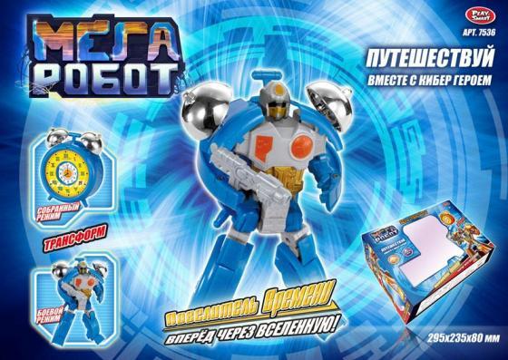 Робот-трансформер Play Smart Мега робот 29.5 см play smart металлич инерц машина автопарк play smart м1 50 box 12x5 7x6 8 см арт 6402b а74784